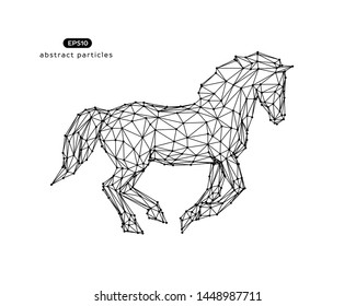 Vector abstract illustration of horse. You can easily change color.