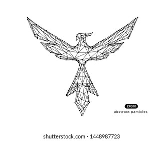 Vector abstract illustration of phoenix. You can easily change color.