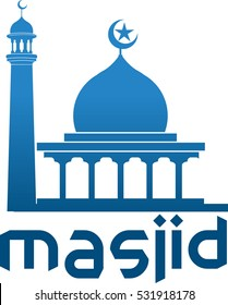 Vector abstract image of the form of the mosque as a symbol or icon of religious activities