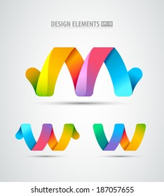 Vector abstract infinity logo. Creative concept icons set