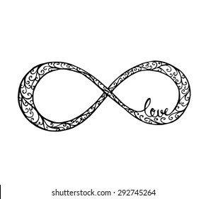 Vector of Abstract Infinity Loop in swirl style concept love, forever love
