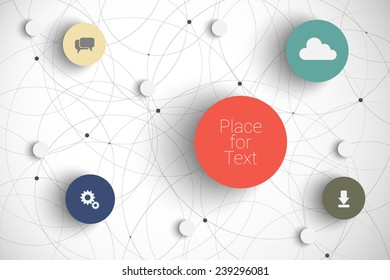Vector abstract  infographic network template with place for your content