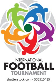 Vector abstract, International football tournament as symbol or logo