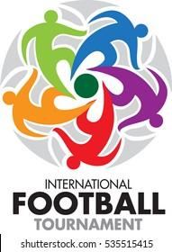 Vector abstract, International football tournament as symbol or logo
