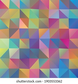 Vector abstract irregular polygon background with a triangle pattern in full multi color.