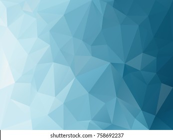 vector abstract irregular polygon background with a triangle pattern in blue turquoise color gradient