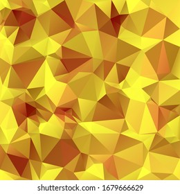 vector abstract irregular polygon square background - triangle low poly pattern - color gold yellow ochre