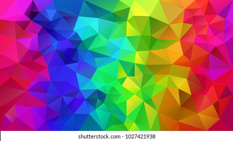vector abstract irregular polygonal background - triangle low poly pattern - rainbow color full spectrum