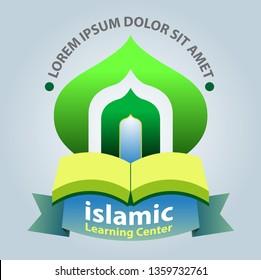 Vector abstract of Islamic study center as symbol or logo.