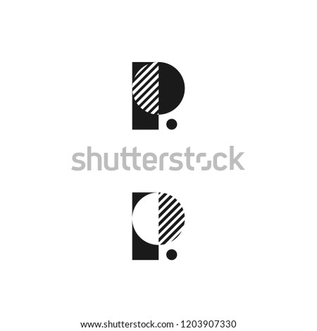 vector abstract letter p logo design concept letter p template p mark architecture