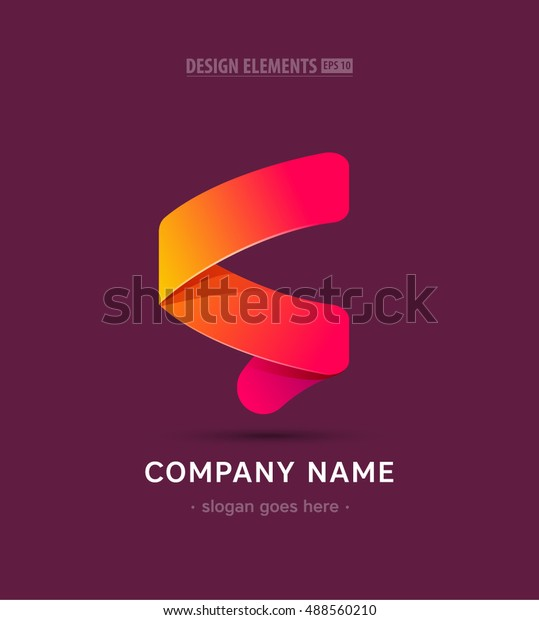 Vector Abstract Letter S Company Success Stock Vector (Royalty Free