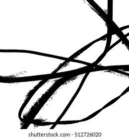 Vector abstract lines texture. Grunge background for your design. Messy black and white paint.