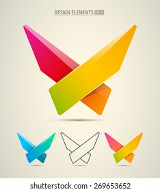 Vector abstract logo design. Corporate identity X letter symbol. Modern corporate logo elements
