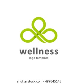 Vector abstract logo design for wellness club.
