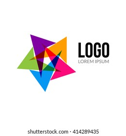 Vector abstract logo template layout. Abstract colorful creative sign or icon. Design element