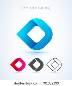 Vector abstract logo template. Material design style.