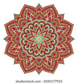 Vector abstract mandala. Design element. Oriental elegant ornament.