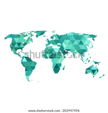 Abstract Map Of The World.Vector Abstract Map World Triangles Stock Vector Royalty Free