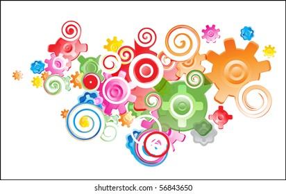 vector abstract modern full composition