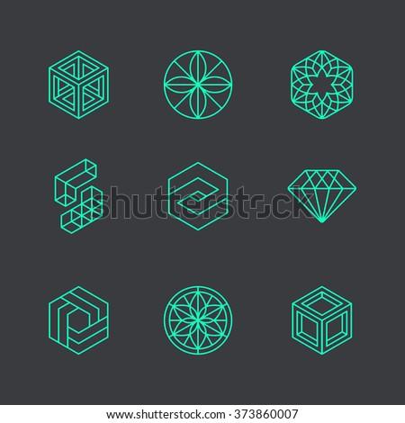 Vector Abstract Modern Logo Design Templates Stock Vector Royalty