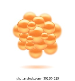 Vector Abstract Molecules Design. Set Molecules Spheres Abstract background . Molecular Structure  Atoms. Medical Background for Banner.