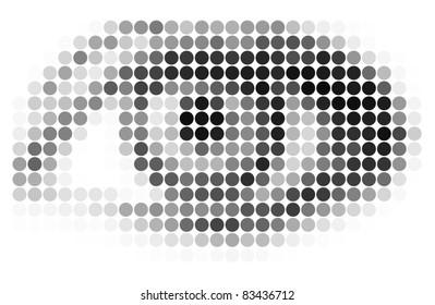 Vector abstract mosaic eye