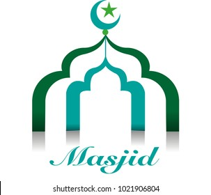 Vector abstract, mosque symbol
