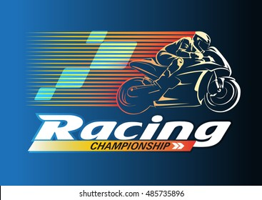 Vector abstract, Motor Racing Championship logo event