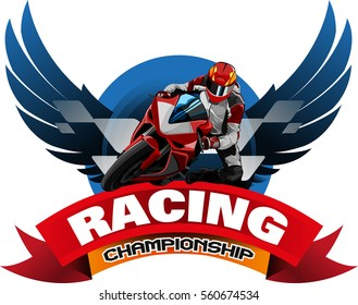 Vector abstract, Motorcycle racing championship event