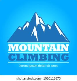 Vector abstract, Mountain climbing symbol