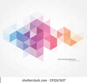 Vector abstract multicolored polygonal mosaic background. Modern geometric triangular pattern. Business design template