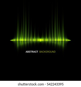 Vector abstract music wave background