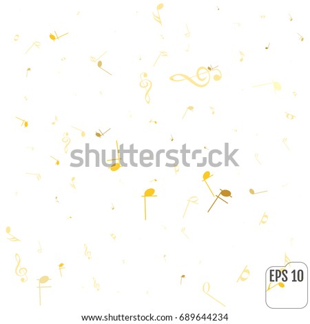 Vector Abstract Musical Background Gold Music Stock Vector