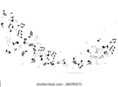 vector abstract musical notes background