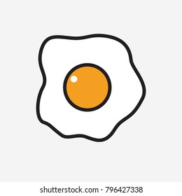 Vector abstract omelette of egg with yolk