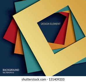 vector abstract paper square shapes background.