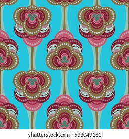 Vector abstract pattern. Floral seamless.