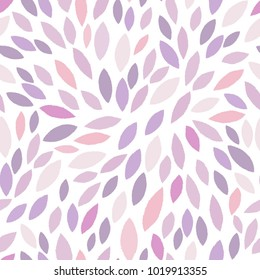 Vector abstract pattern of purple leaves.