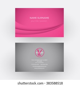 Vector abstract pink background. Business card