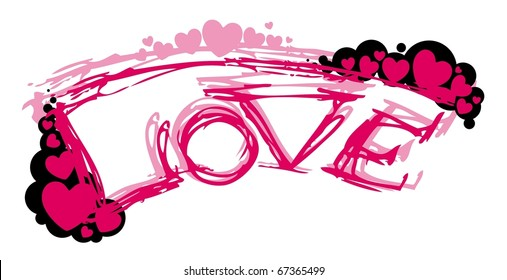 Vector abstract pink love