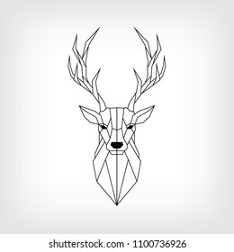Geometric Deer Head Images Stock Photos Vectors Shutterstock