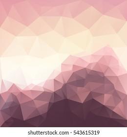 Vector abstract polygonal mountain background