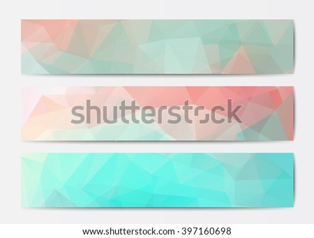 vector abstract polygonal triangle banner templates stock vector