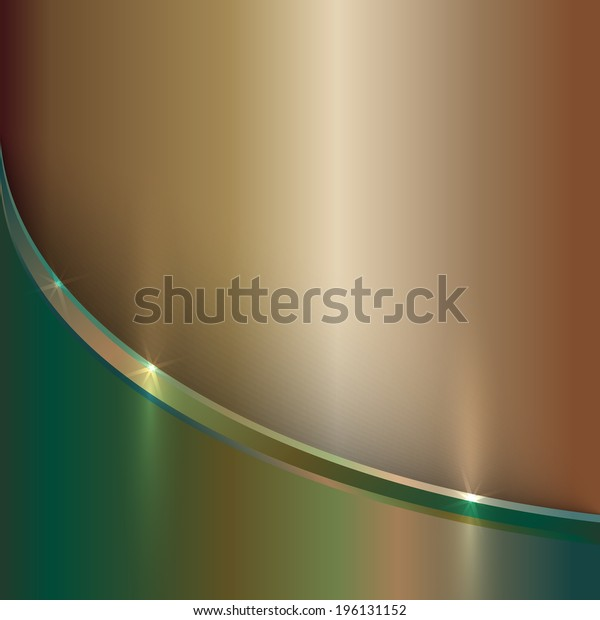 vector abstract precious old gold metal background with curve