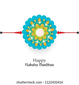 Vector abstract for Raksha Bandhan with nice illustration in a creative background, Beautiful background with illustration of rakhi.