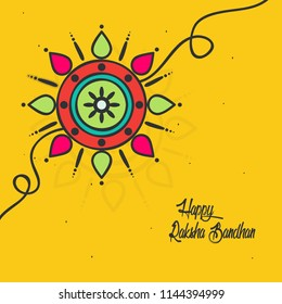 Vector abstract for Raksha Bandhan with nice illustration in a creative background, Beautiful background with gift preparing for Rakhi. Discount offers rakhi sale .