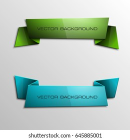 Vector abstract ribbon banner. The two original band banners form. Cartoon ribbon for title. The flat band image. Advertising Design banner shape. Vector annotation label ribbons tag.