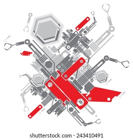 vector abstract robot machine background pattern