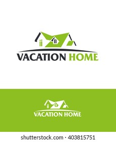 vector abstract roof of the house concept design real estate logo design template