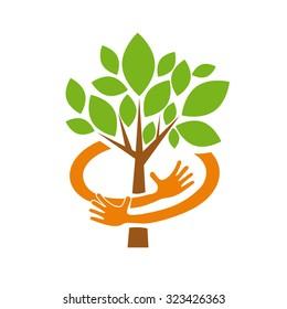 Vector abstract Safe Organic farming
